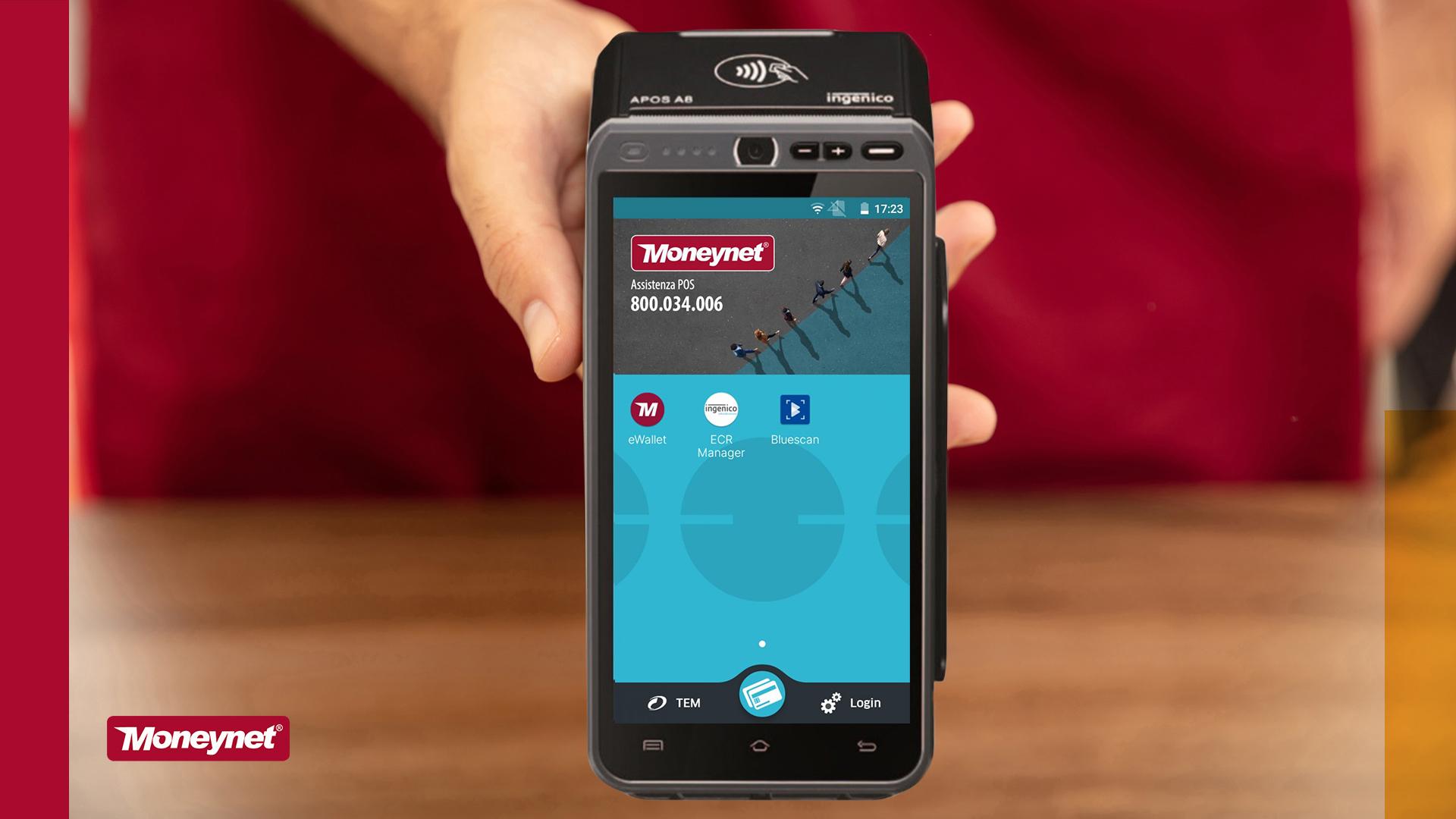 Moneynet sceglie Ingenico: smartPos Android per pagamenti e servizi VAS